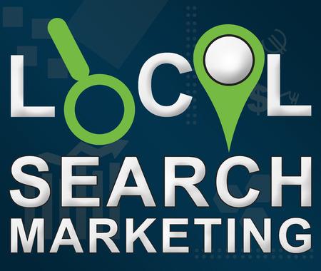 Local Search Markering Negócios tema de fundo