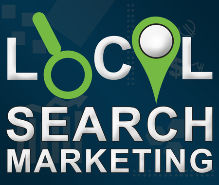Local Search Markering Business Theme Background