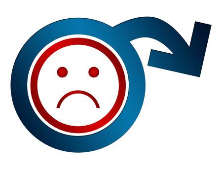 Erectile Dysfunction Sad Face Stockfoto