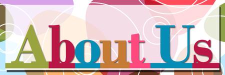About Us Random Colorful alpahabets