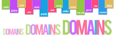 Domains Colorful Stripes Banner
