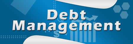debt management: Debt Management Business Theme Background