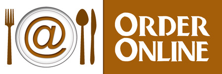 Order Online Food Banner Stock Photo