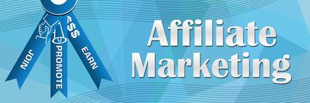Affiliate Marketing Blue Squares Background photo