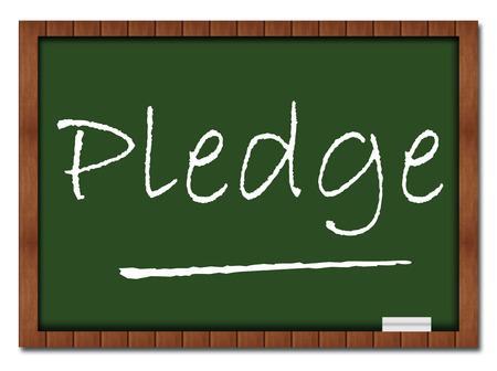 pledge: Pledge Classroom Board Stock Photo