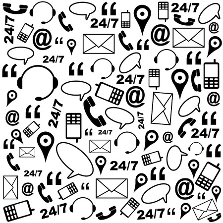 24 7: Contact Us Background Pattern Black White