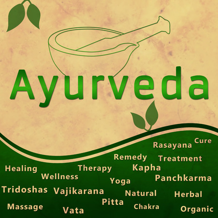 Ayurveda Green Grunge Square Stock Photo - 36226629