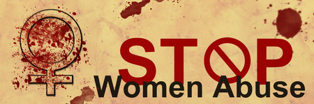 Stop Women Abuse Grunge Banner photo