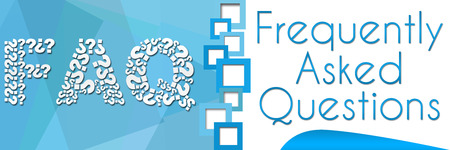 separator: FAQ Square Separator Blue Banner