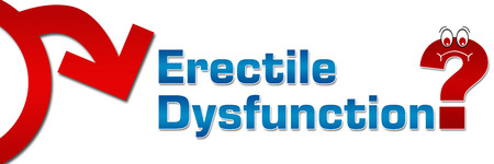 dysfunction: Erectile Dysfunction Question Mark Symbol Banner