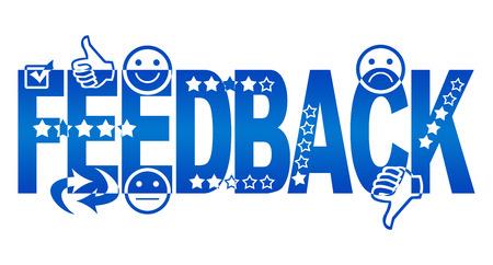 Feedback Text mit Symbolen Standard-Bild - 37558316