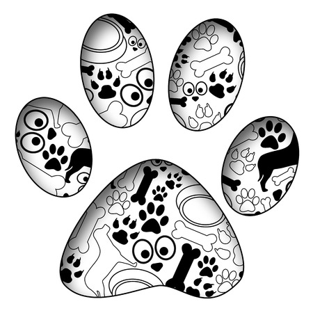 Pet Paw Met Pet Texture Stockfoto