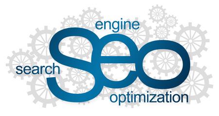 SEO Logotype mit Gängen Standard-Bild - 38280056