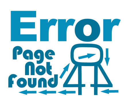 found: Page Not Found Blue Text With Arrows Stock Photo