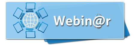 webcast: Webinar Blue Squares Stock Photo