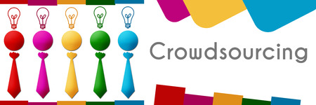 crowdsource: Crowdsourcing Human Colorful Row Stock Photo