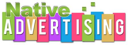 online bidding: Native Advertising Stock Photo