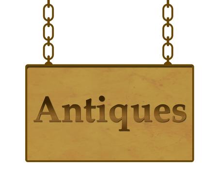 antiques: Antiques Signboard