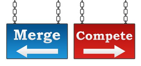 letreros: Merge Compite Letreros