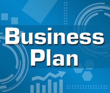 Business Plan Astratto Sfondo blu Archivio Fotografico