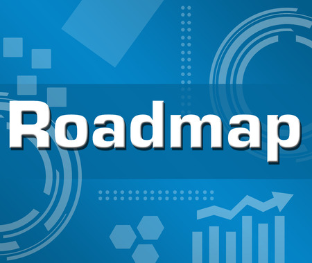 roadmap: Roadmap Blue Abstract Background