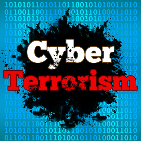 breaking the code: Cyber Terrorism Binary Background