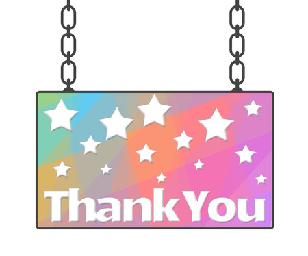 hanged: Thank You Hanged Signboard
