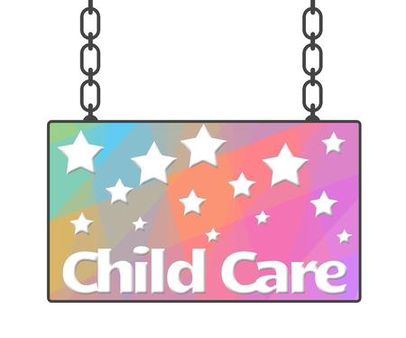 child care: Child Care Signboard