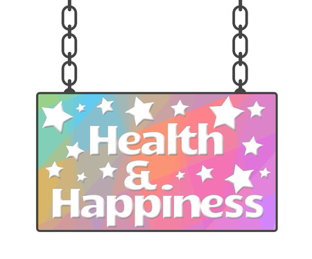 adboard: Health And Happiness Signboard Stock Photo