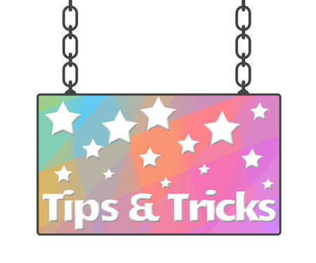 hints: Tips And Tricks Signboard