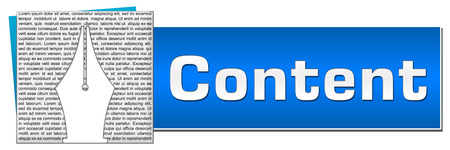 tip: Content Pen Tip Text Texture Blue Button Stock Photo