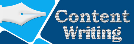 content writing: Content Writing Two Blue Blocks