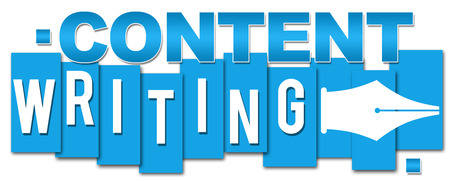 content writing: Content Writing Blue Stripes Stock Photo