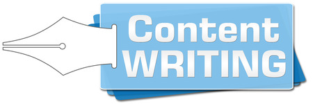 content writing: Content Writing Side Squares Stock Photo