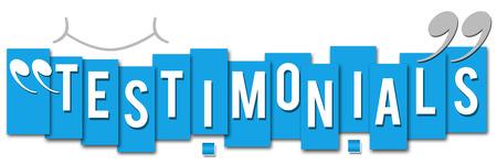 t�moignages: T�moignages rayures bleues Banque d'images