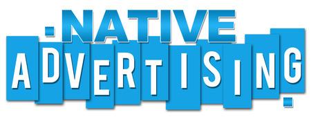 online bidding: Native Advertising Blue Stripes