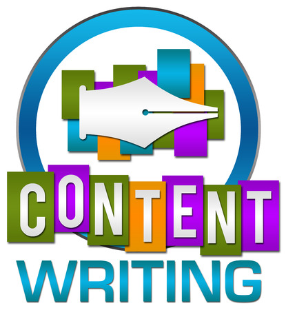 content writing: Content Writing Colorful Circle Stripes