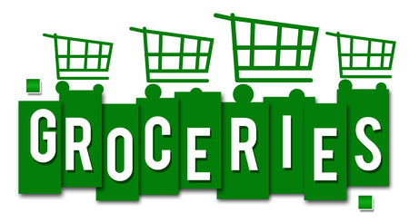 grocer: Groceries Green Stripes Carts