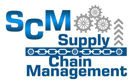 SCM Supply Chain Management Gears Catene