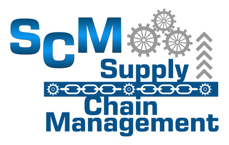 scm: SCM  Supply Chain Management Gears Chains