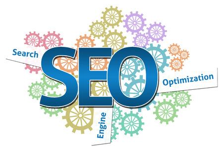 SEO  Logotype Gears Colorful