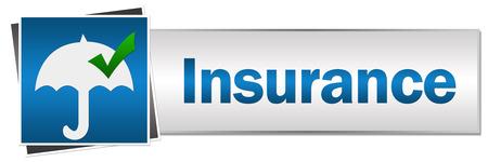 insure: Insurance Button Style Stock Photo