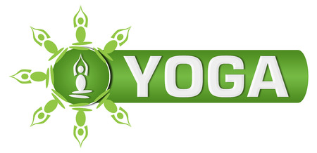 Yoga Text Circular Yoga Poses Green