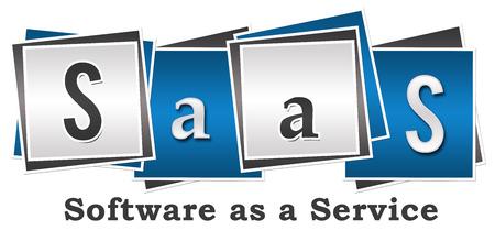 SaaS Software as a Service Quatre blocs Banque d'images - 41243222