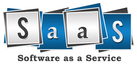 SaaS  Software As A Service Four Blocks