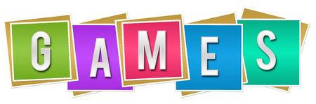 Games Colorful Blocks Stock Photo
