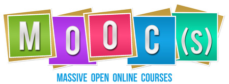 Moocs  Massive Open Online Courses Colorful Blocks