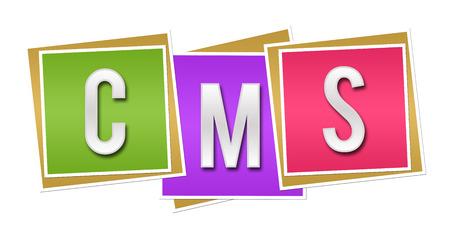 CMS  Content Management System Colorful Blocks photo