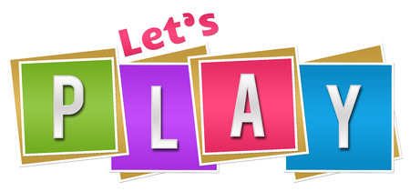 Lets Play Colorful Blocks Standard-Bild
