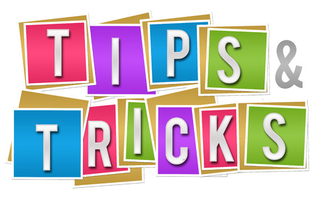 hints: Tips And Tricks Colorful Blocks Stock Photo